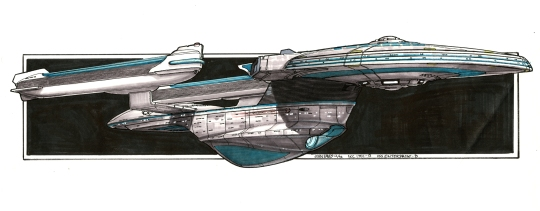 Eaves' bold re-design captures the majesty of a Federation ship...