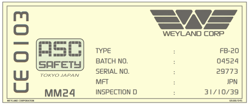 Weyland Corp label