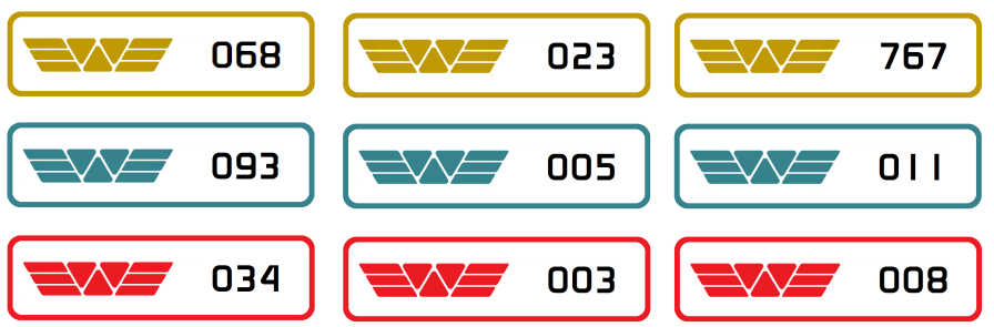 Weyland Corp numbered labels