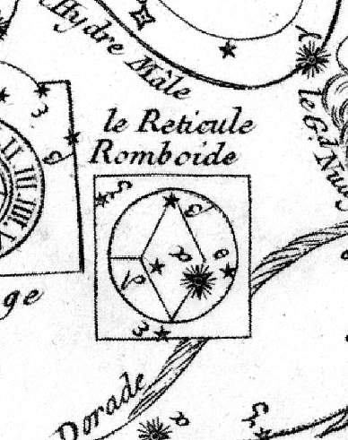 Lacaille's original drawing of the constellation.