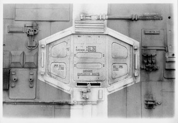 The airlock hatch, before.