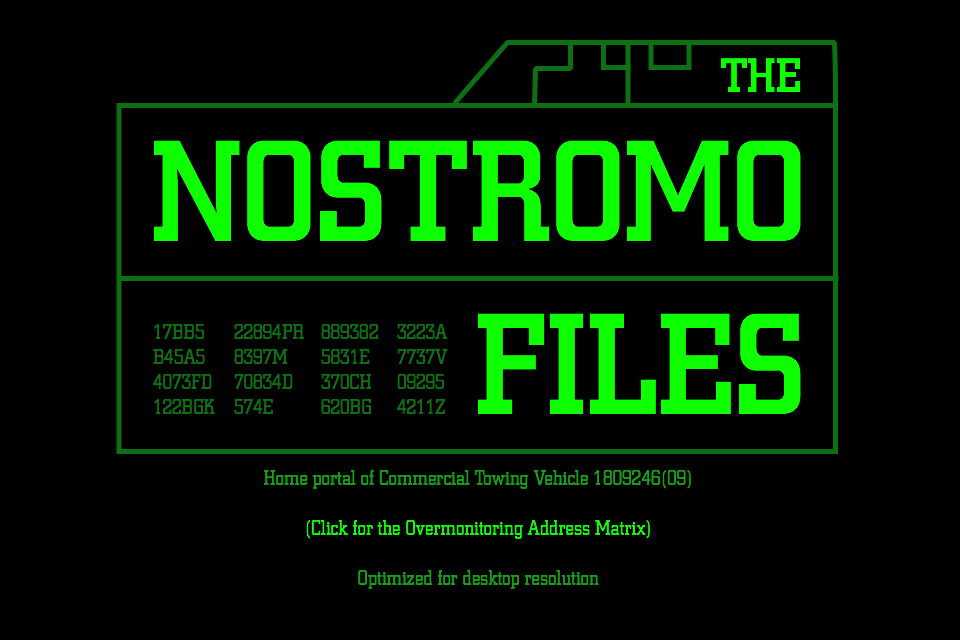 The Nostromo Files New Logo 2017-04-12