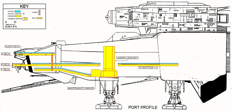 Port cutaway, with White Out! and some cut-n-paste (literally) magic. I drew the inner configuration in MS Paint after scanning the drawing into my PC.