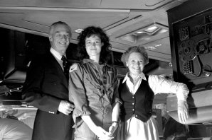 """Sigourney Weaver, with father Sylvester """"Pat"""" Weaver and mother Elizabeth Inglis."""