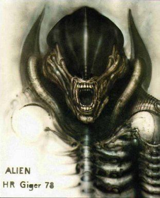"""""""Alien III, front view (version 3)"""". H. R. Giger"""