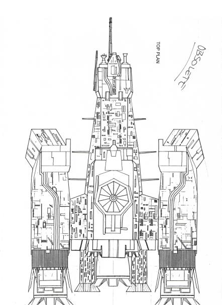 An obsolete version of the dorsal plan.