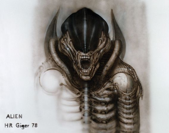 """Alien III, front view (version 3)"". H. R. Giger"
