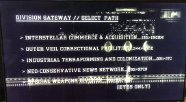 Exploring ALIEN, part 3: menu animation from Alien, The Director's Cut DVD. Some interesting tidbits relative to the Gateway Division's computer interface menu selections: IC&A, OVCF, IT&C, N-CNN, and SWD...