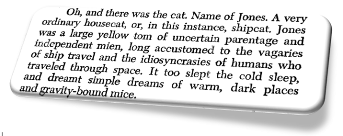 Excerpted from Alien, a novel by Alan Dean Foster. Warner Books Edition. Copyright (c) 1979 by 20th Century-Fox Film Corporation.