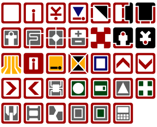 Vector adaptations are based on Brandon Gamm's icons on The Noun Project, posted by louh