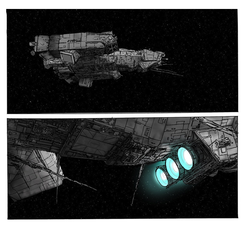 Ash A Fan Fiction Scudieri Nostromo in flight 2